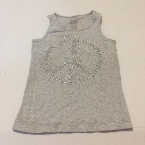 4/$20 George Piece sign grey tank top